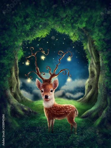 Leinwanddruck Bild Little deer
