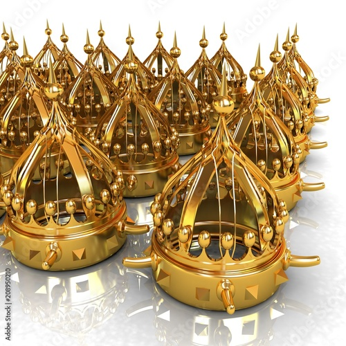 Crown. 3d render