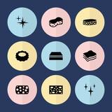 Set of 9 sponge filled icons - 208953865