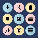 Set of 9 shutter filled icons - 208954050