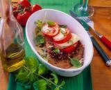 Kalbsschnitzel mit Tomate Mozzarella - 208956697