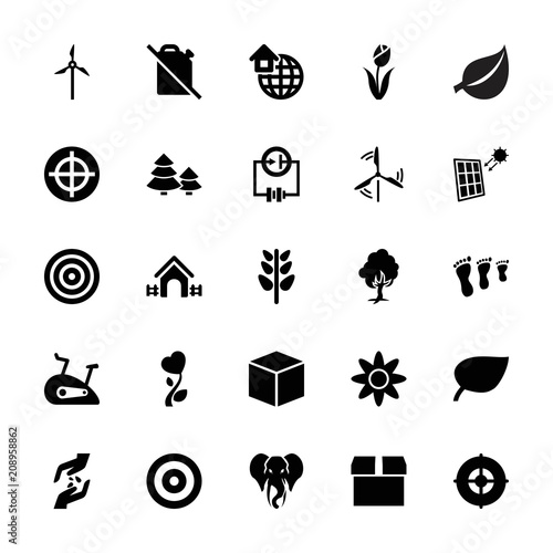 Collection of 25 environment filled icons
