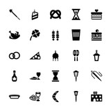 Collection of 25 traditional filled icons - 208959267