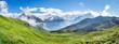 Leinwandbild Motiv Schweizer Alpen Panorama bei Grindelwald im Berner Oberland