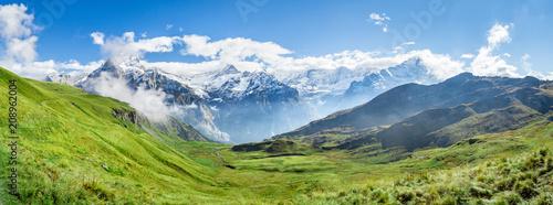 Foto Murales Schweizer Alpen Panorama bei Grindelwald im Berner Oberland