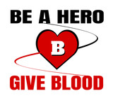 be a hero give blood design  - 208963259