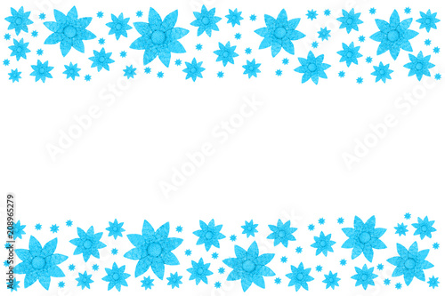 Blue flowers  -  Background - 208965279