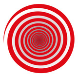 Red spiral. Isolated vector illustration on white background. - 208971810