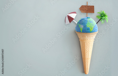 World map icecream