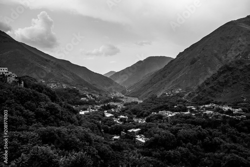 Fotobehang Zwart montanhas
