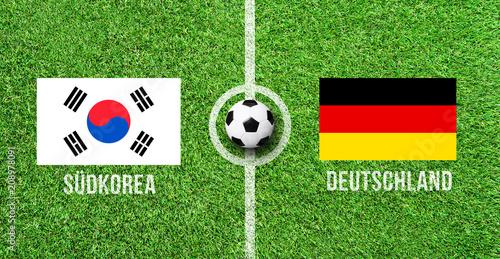 Leinwanddruck Bild Fußball - Südkorea gegen Deutschland