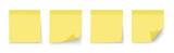 Post note sticker. Paper sticker on white background. Vector illustration - 208980220
