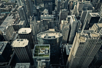 Chicago Buildings From Above