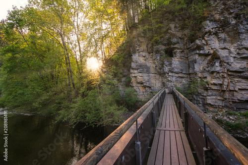 Fototapeta Brücke im Sonnenschein