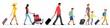 traveling people, baggage handling