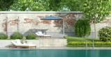 Luxury garden with pool - 208984485