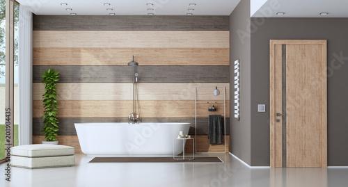 Współczesna łazienka z wanną