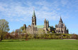 Parliament Buildings / View of the Parliament Buildings and the Ottawa River from Major's Hill Park in early spring.