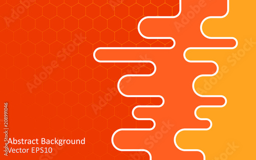 Canvas Abstractie Art Warm colors abstract vector background