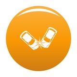 Hard collision icon. Simple illustration of hard collision vector icon for any design orange - 208991615
