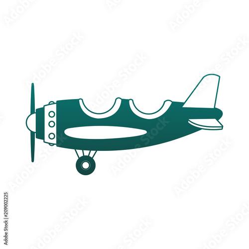 Fotobehang Vintage Poster Vintage airplane cartoon vector illustration graphic design