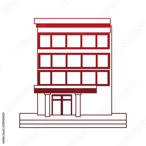Edifice building isolated vector illustration graphic design