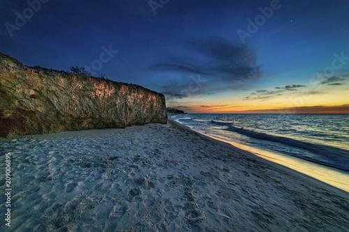 Aluminium Strand Anochecer en la playa