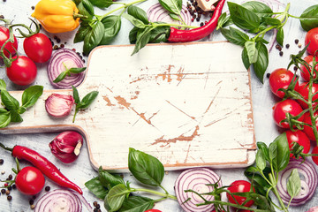 Fresh vegetables and herbs © bit24