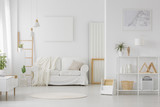 Simple white living room interior - 209030298