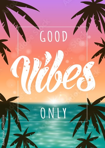Aluminium Positive Typography Good Vibes illustration