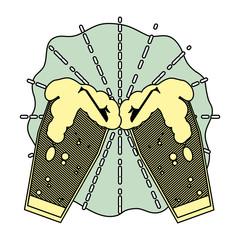 color foam beer glass liquor glass