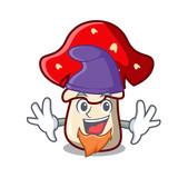 Elf amanita mushroom character cartoon