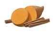 Sweet potato or yams with cinnamon sticks