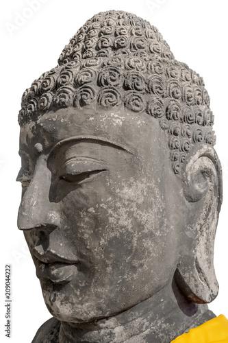 Aluminium Boeddha bouddha de pierre