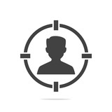 Target person icon vector - 209049205