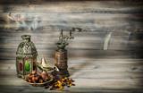 Vintage oriental lantern mill Islamic holidays Vintage toned - 209057463