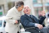 senior couple in wheelchair - 209060808