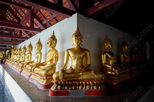 Aluminium Boeddha min gold buddha