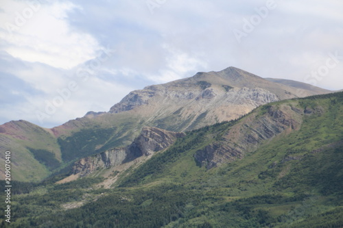 Fotobehang Khaki Pastel Colors Of The Mountains, Waterton lakes National Park, Alberta