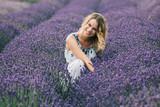 Woman in lavender field - 209072679