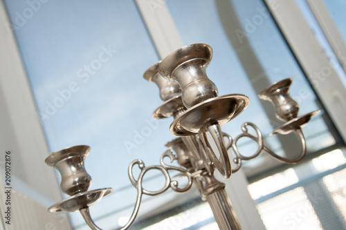 Kerzenständer Silber Silberschmuck gedeckt eTafel