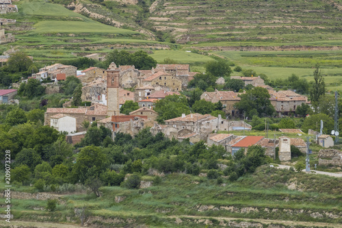 Navajun village in La Rioja province, Spain