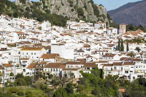 Fridge magnet Gaucin white village in Malaga province, Spain