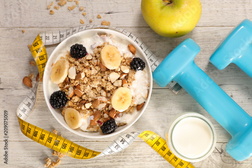 fitness breakfast concept
