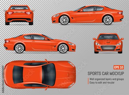 Realistic vector sports car - 209076607