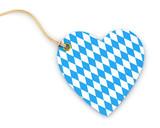 Anhänge-Etikett - Herz - Rauten - Bayern - 209077825