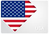 American flag design background. Vector illustration. - 209078854