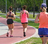 Runners on the running track