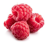 Fresh raspberry isolated on white background. Clipping path - 209081043
