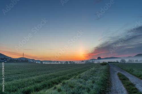 Wschód słońca w Hammelburgu